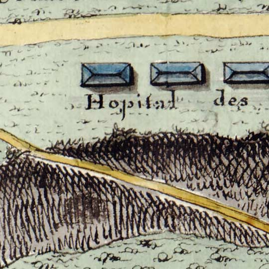 Map of Fort St Nicolas, Haiti (1780s) image detail