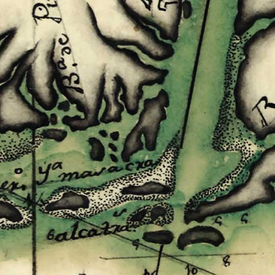 Clemes' Map of the U.S. Gulf Coast (1786) image detail