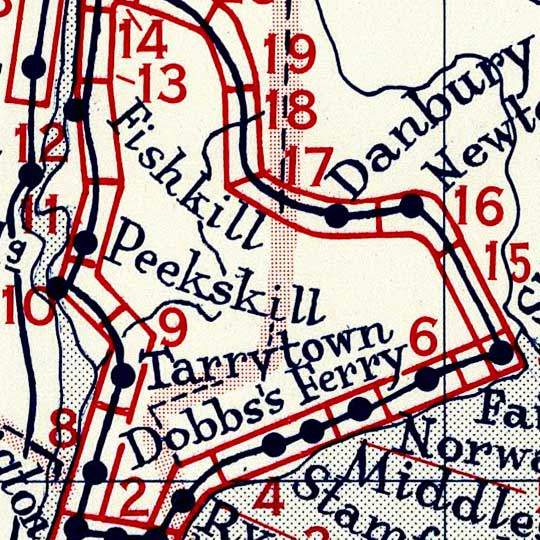 Survey of the Roads of the U.S. Northeast in 1790 image detail