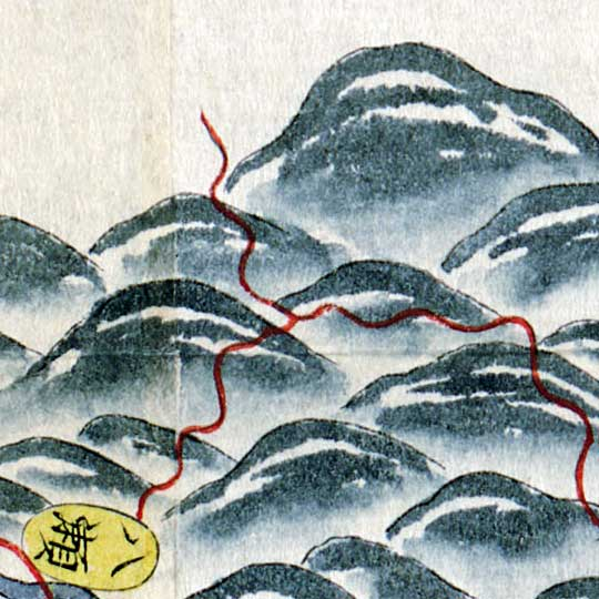 Map of Yamashiro Region, Japan (1800s) image detail