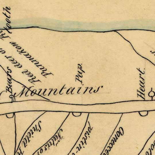 Indian Map of the Upper Missouri River (1801) image detail