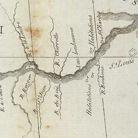 Perrin du Lac's Map of the Banks of the Missouri River (1802) image detail