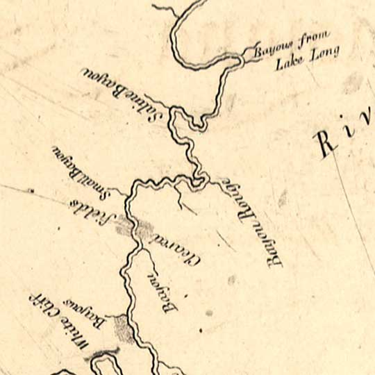 King's Map of the Red River in Louisiana (1806) image detail