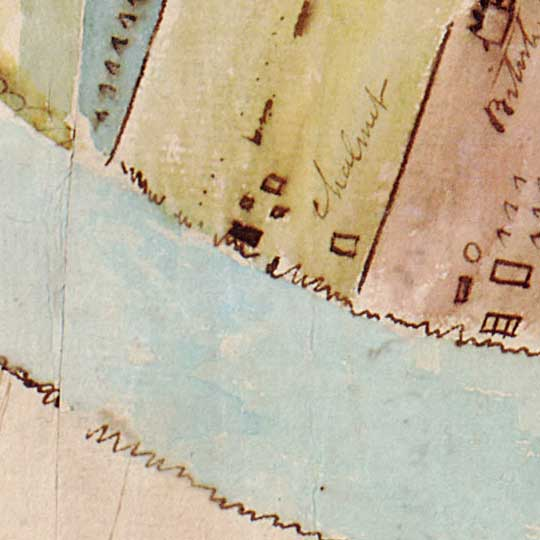 White's Map of New Orleans in 1814-1815 image detail