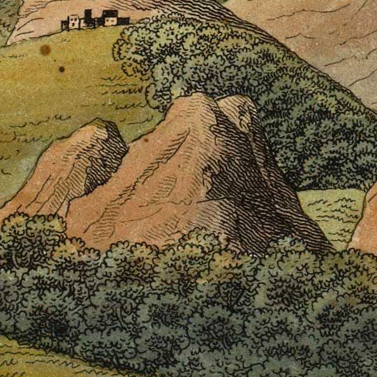 Smith's Comparative View Of The Heights Of The Principal Mountains of the World (1816) image detail