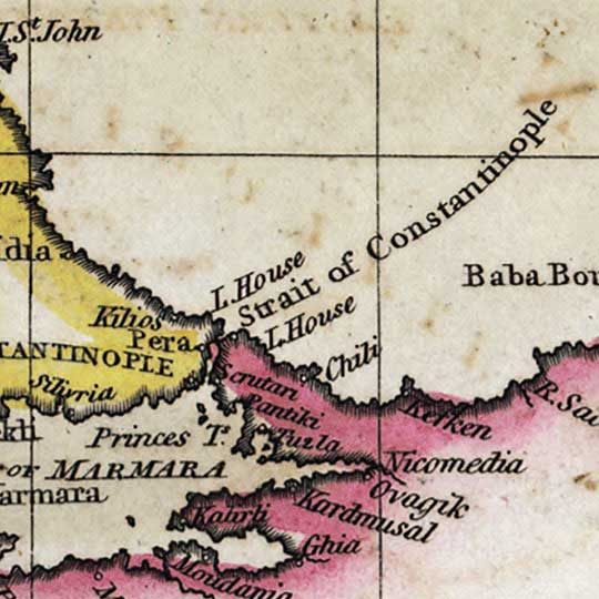 The Mediterranean Sea, from Thomson's New Atlas (1817) image detail