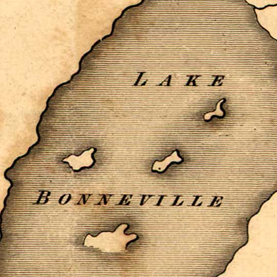 Bonneville's Map of the Territory West of the Rocky Mountains (1837) image detail