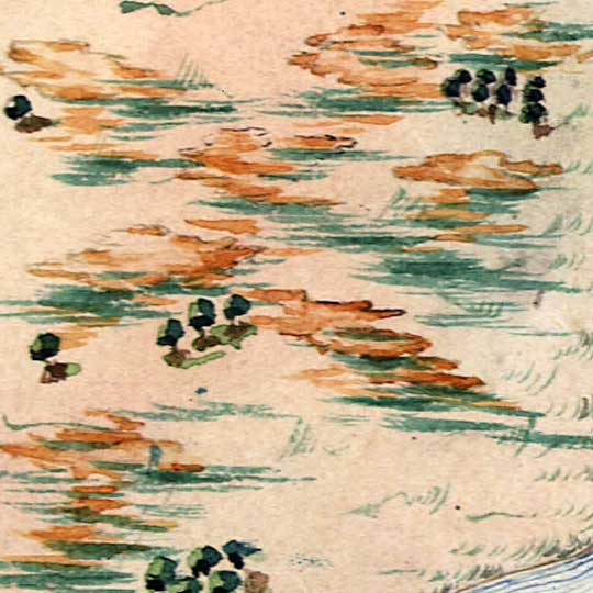 Herrera's Map of a Mexican War Campaign (1848) image detail