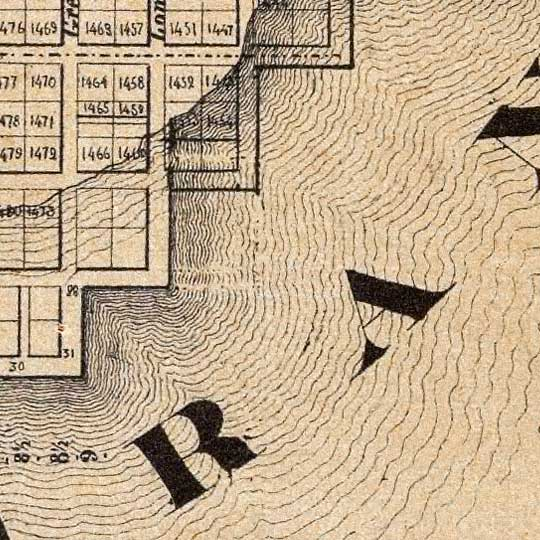 Map of San Francisco, Compiled from latest Surveys (1852) image detail