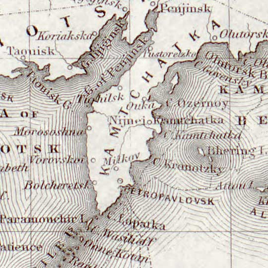 World Map of Proposed and Operational Telegraph Lines (1855) image detail