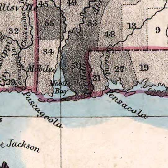Choropleth Map Depicting Slaves in the Southern U.S. (1860) image detail