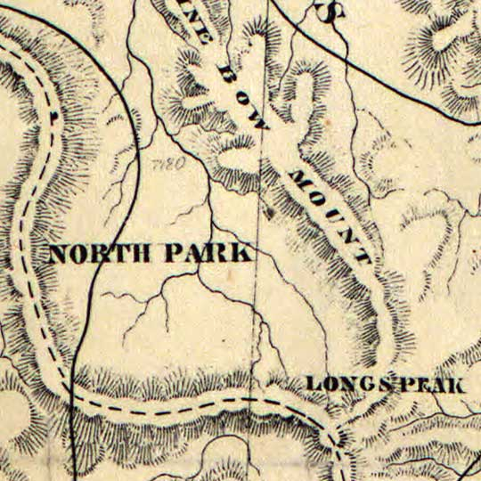 Routes Taken to the Pikes Peak Gold Regions (1860s) image detail