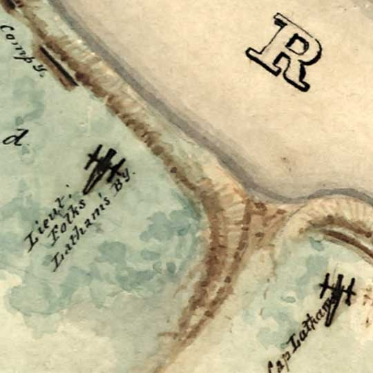 Map of Bull Run Battlefield (1861) image detail