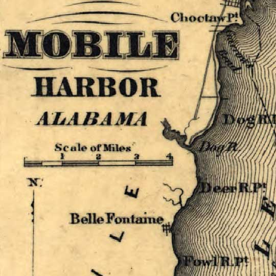 U.S. Harbors Showing Fortifications (1862) image detail