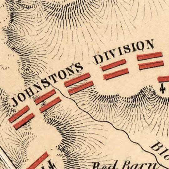 Gettysburg Battlefield on July 1st, 2nd, and 3rd, 1863 image detail
