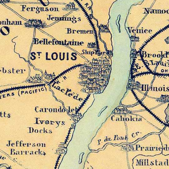 Magnus' Panorama Of The Mississippi Valley And Its Fortifications (1863) image detail