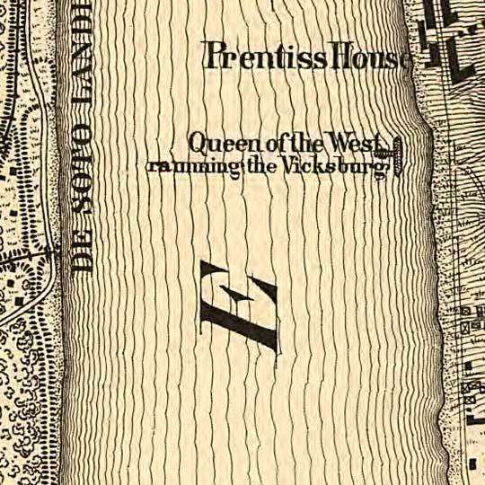 Approaches to Vicksburg and Rebel defences (1863) image detail