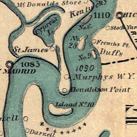 Ribbon Map of the Father of Waters; the Mississippi River in 1866 image detail