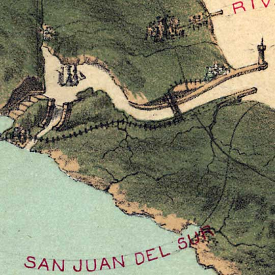 Plan for a Hypothetical Nicaraguan Canal (1870s) image detail
