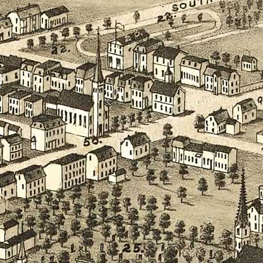 Ruger's Birdseye Map of Halifax, Nova Scotia (1879) image detail