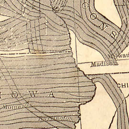 How the Public Domain has Been Squandered - Railroad map (1884) image detail
