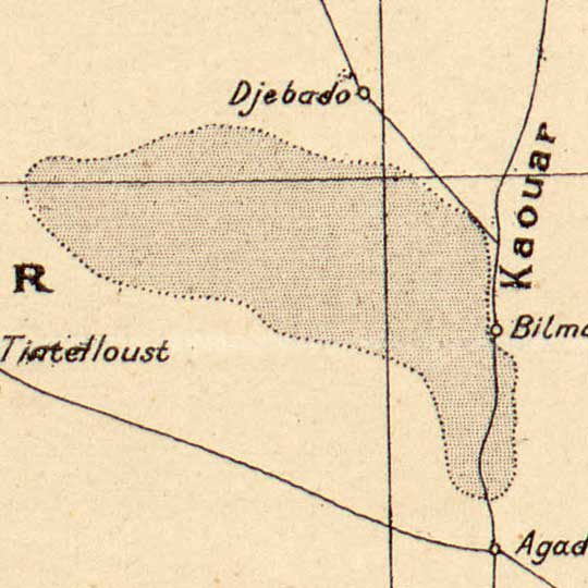 Trade Routes of the Sahara (1889) image detail