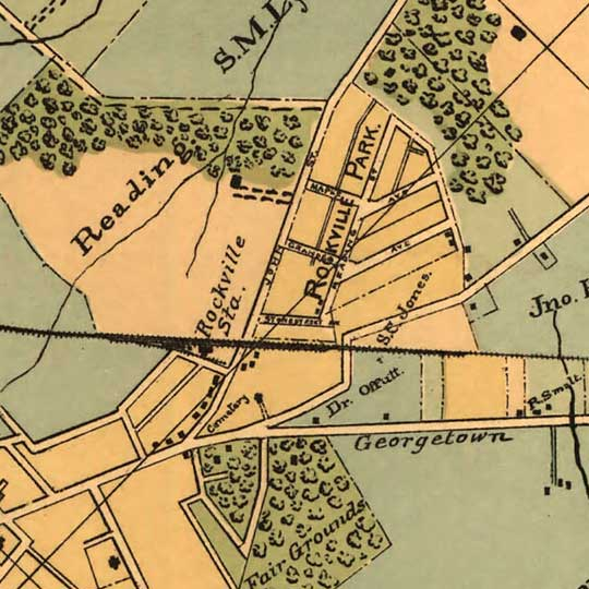 The Baltimore and Ohio Railroad Between Washington D.C. and Rockville (1890) image detail