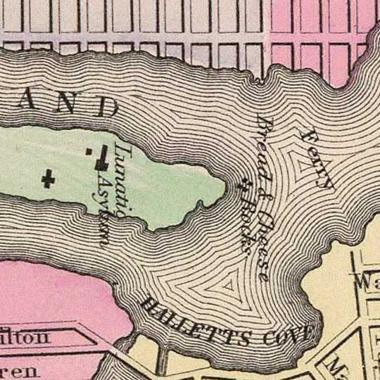 Mitchell's Map of New York and Brooklyn in 1890 image detail
