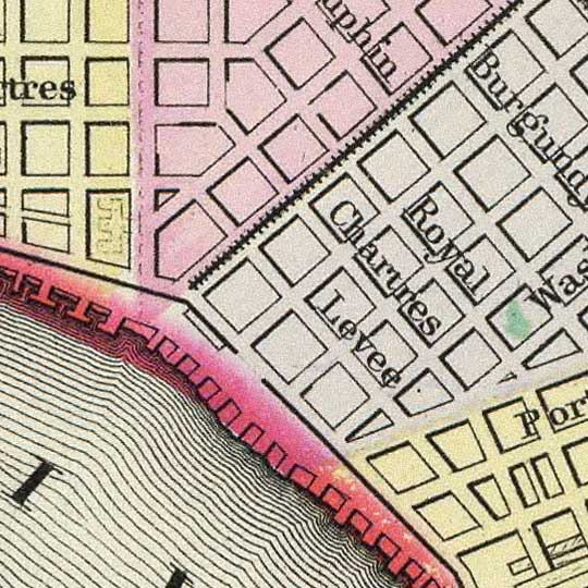 Mitchell's Plan of New Orleans in 1890 image detail