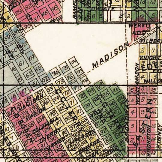 Anderson's new guide map of the city of Seattle and environs (1890) image detail