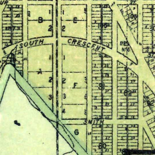 Map showing territorial growth of the city of Seattle (1891) image detail