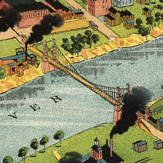 Westyard's Birdseye Map of Waco, Texas (1892) image detail