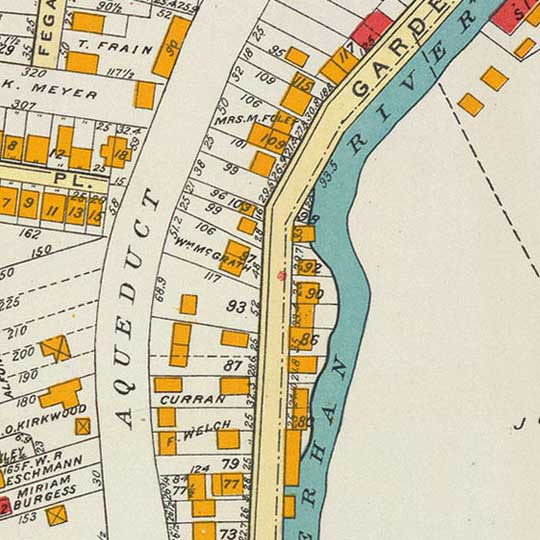 Bien's City of Yonkers, New York in 1893 image detail