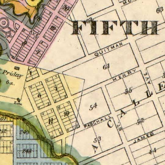 City of Houston and Environs (1895) image detail
