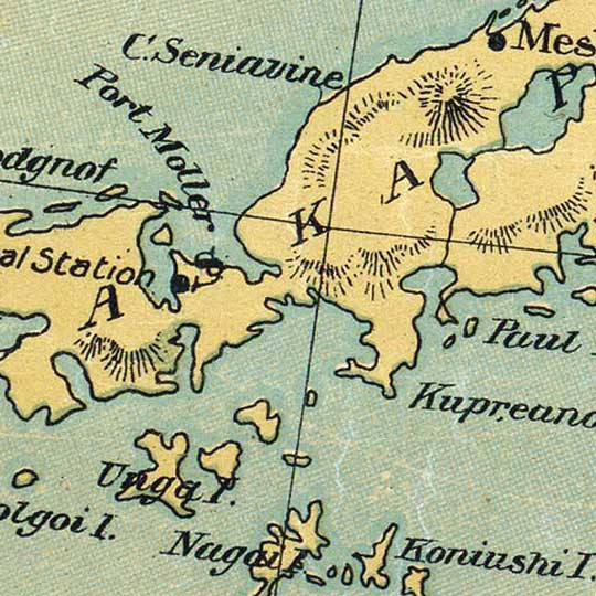 Punnet Bros Map Of Alaska in 1897 image detail