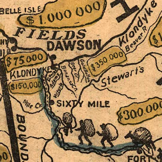 Geography Game: Going to Klondyke (1897) image detail