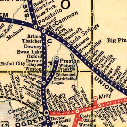 The Union Pacific system of railroad and steamship lines in 1900 image detail