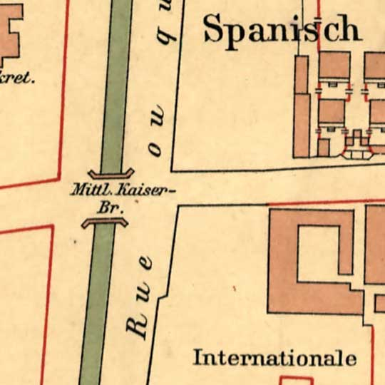 German Map of Embassies in Beijing (1903) image detail