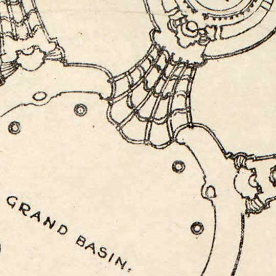 Map of the 1904 World's Fair in Forest Park, St Louis image detail