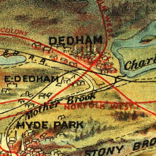 Boston and Environs by Walker (1905) image detail