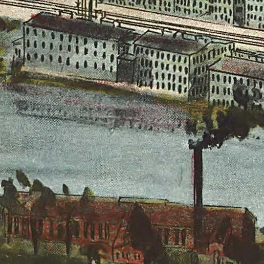 Birdseye of Manayunk, Philadelphia (1907) image detail