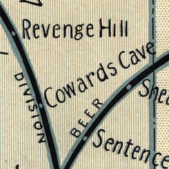 Gospel temperance railroad map (1908) image detail