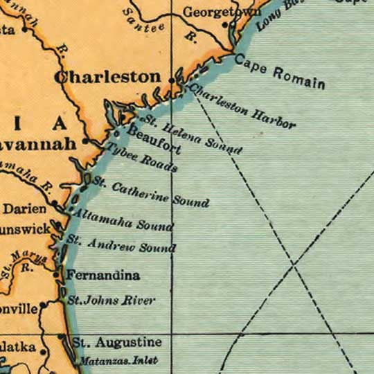 United Fruit Company Map of Central America (1909) image detail