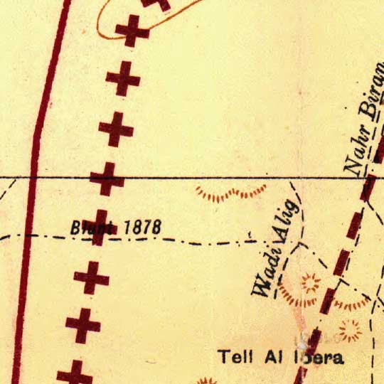 League of Nations Map of Iraq/Syria Border (1920) image detail