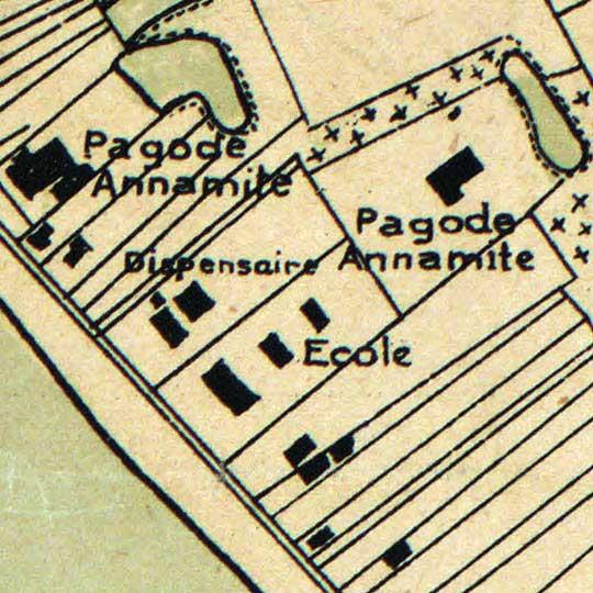 Portail's Plan de Phnom-Penh (1920s) image detail