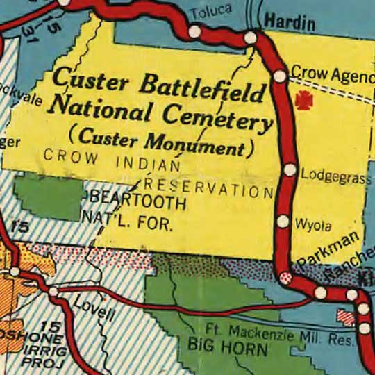 Good Roads Everywhere - Custer Battlefield Highway (1925) image detail