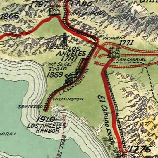 History of Los Angeles (1929) image detail