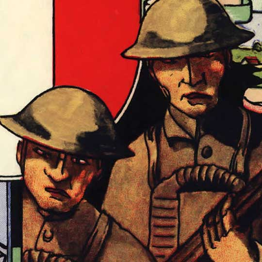 WWI Map of the American Expeditionary Force (1932) image detail
