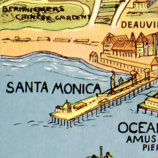Greater Los Angeles : the wonder city of America (1932) image detail