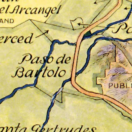 Spanish and Mexican ranchos of Los Angeles County (1937) image detail